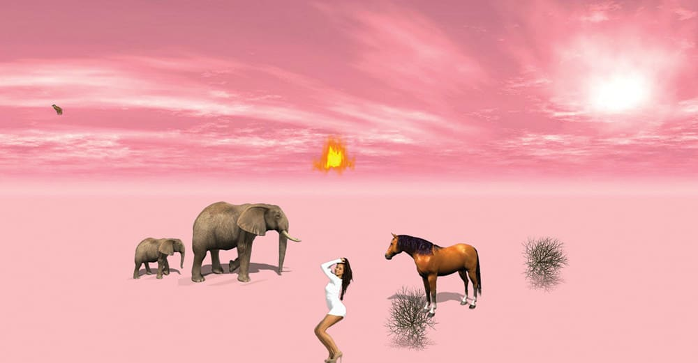 Art in Motion animation pink