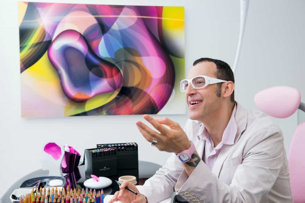 Karim Rashid in his office