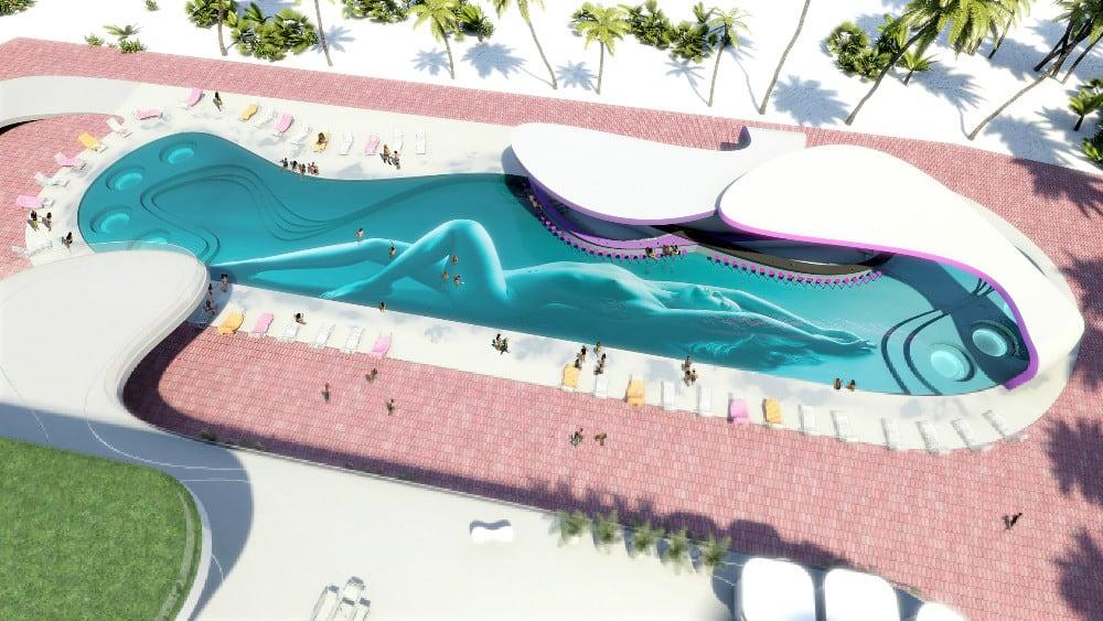 Karim rashid Sexy Pool - Mexico