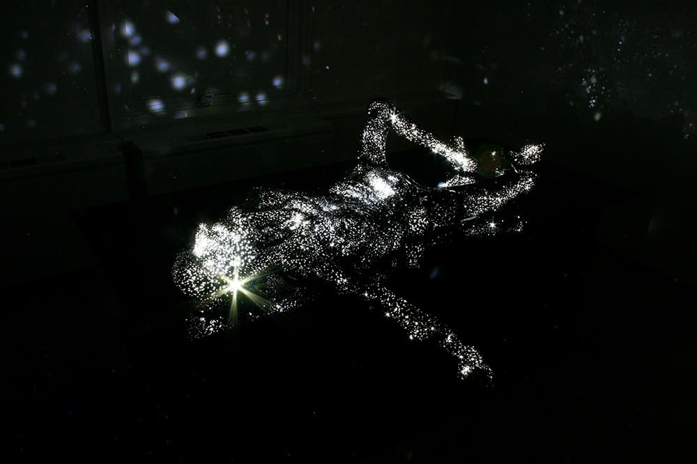 Milky Way - Breath 02, 2010, installation view, FRP, LED with dimmer, 190.5 x 107 x 108 cm.