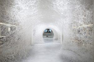 Memory of the ocean, installation de Chiharu Shiota-ABM-Gabriel de la Chapelle