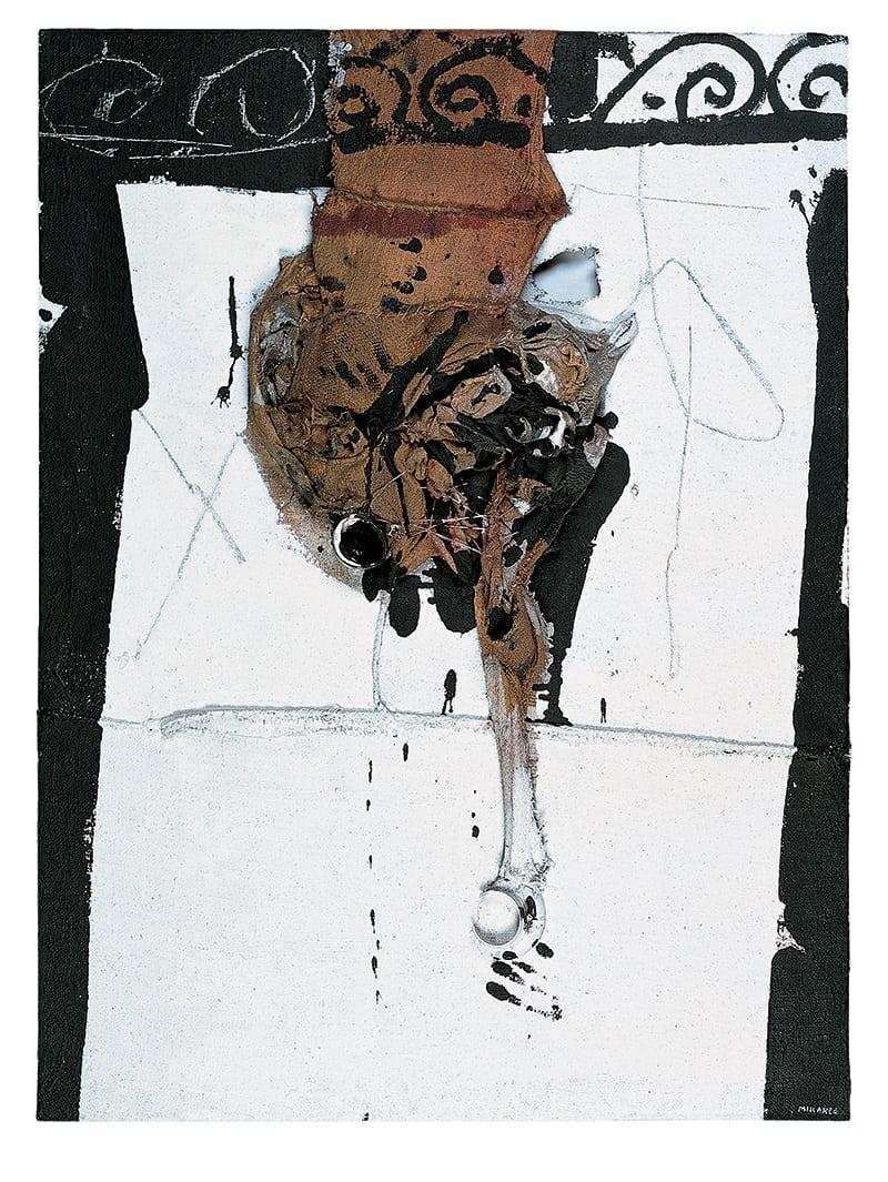 Homúnculo (1), 1964 , 1967, Mixed media on burlap , 130 x 96.5 cm