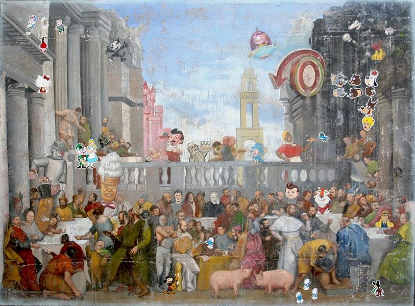 EL BANQUETE.2006.140 X 200 CM