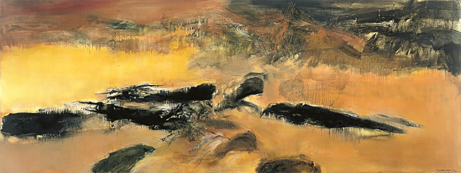 Zao Wou-Ki at Musée d'Art Moderne of Paris: When the painting becomes a sound
