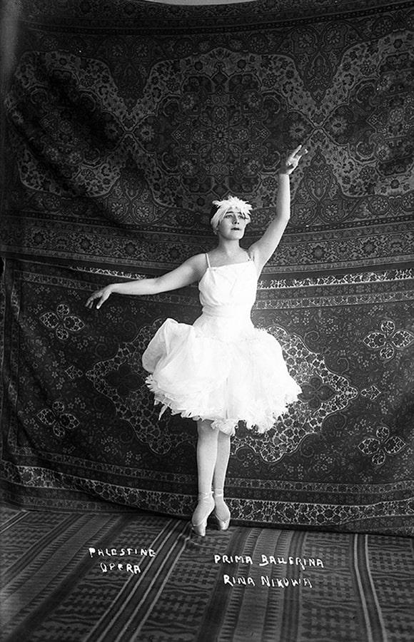 Rina Nikova, prima ballerina, in Swan Lake,The Palestine Opera,1925-1928, Photographer Zvi Oron at Manofim Festival in Jerusalem