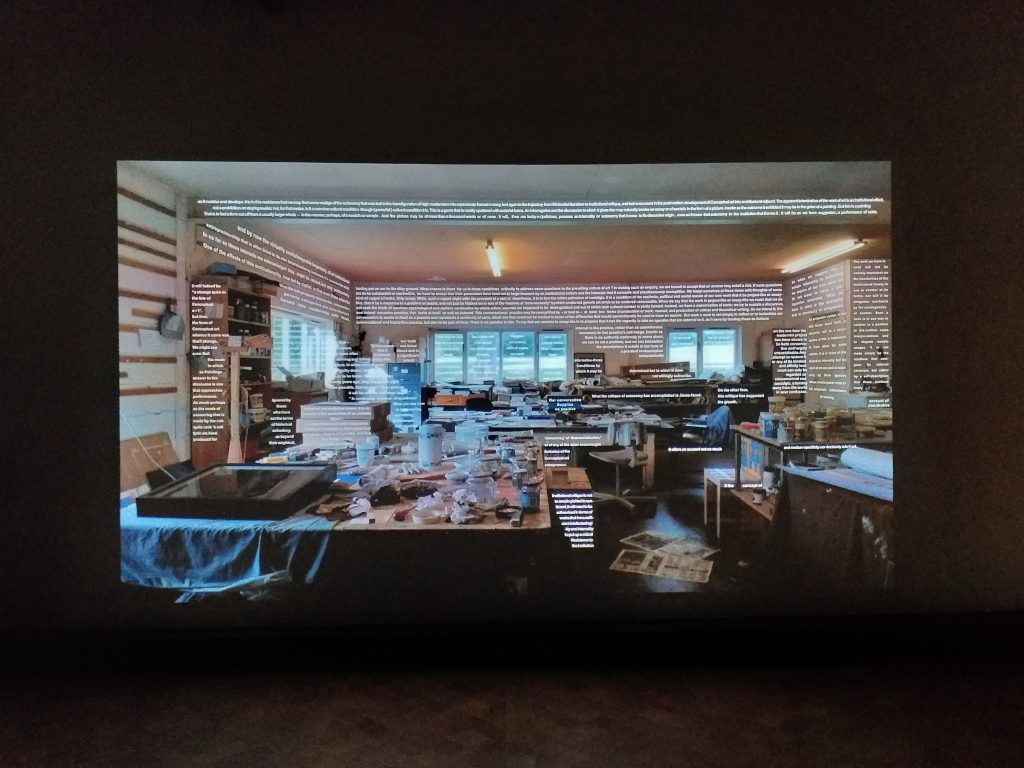 Art & Language, Qui Pourra, 2007, video.